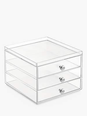 InterDesign Plastic Storage Chest, 3 Slim Drawer