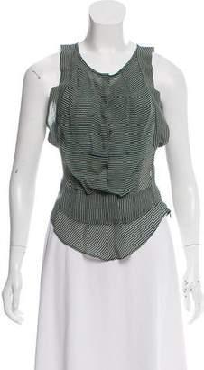 Etoile Isabel Marant Semi-Sheer Sleeveless Blouse