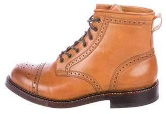 Co RRL & Leather Cap-Toe Brogue Boots