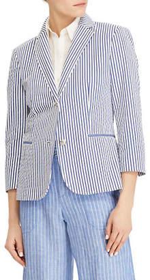Lauren Ralph Lauren Petite Striped Notch Blazer