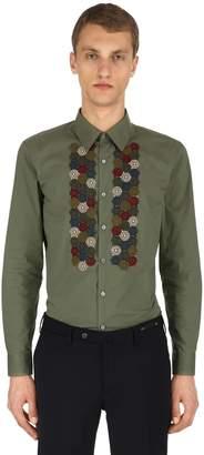 Antonio Marras Embroidered Cotton Poplin Shirt