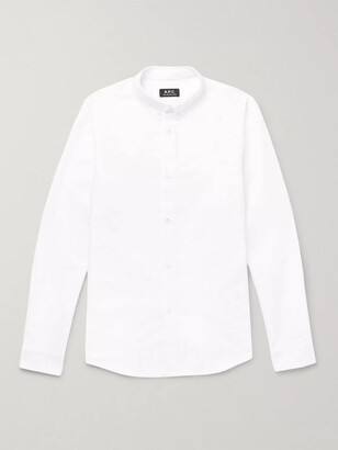 A.P.C. Slim-Fit Button-Down Collar Cotton Oxford Shirt - Men - White