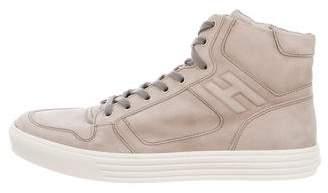 Hogan Suede Nuovo Modello Basket Sneakers
