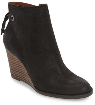Women's Lucky Brand 'Yamina' Wedge Zip Bootie $138.95 thestylecure.com