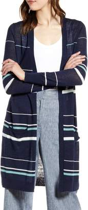 Halogen Long Linen Blend Cardigan