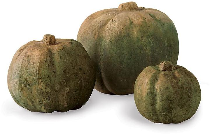 Mossed Terra-Cotta Pumpkins