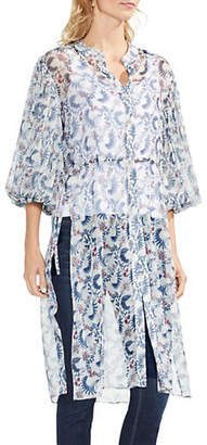 Vince Camuto Side-Tie Boutique Floral Tunic