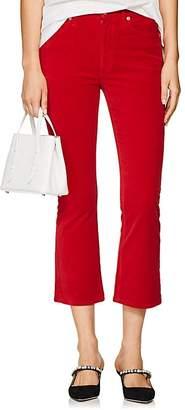 RE/DONE Women's Velvet Crop Flare Pants