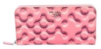 Prada Printed Saffiano Wallet