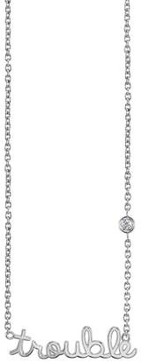 Sydney Evan Syd by Sterling Silver Diamond 'Trouble' Pendant Necklace - 0.015 ctw