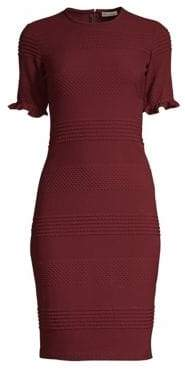 Shoshanna Roosa Tonal Stripe Sheath Dress