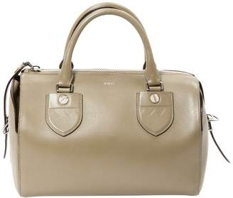 Bally Khaki Leather Handbag