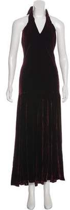 Ralph Lauren Velvet Evening Dress