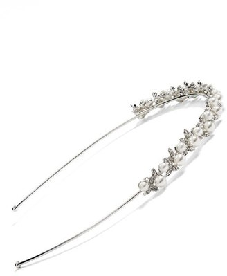Nina Pearly Bead And Crystal Headband $48 thestylecure.com