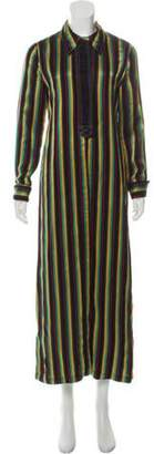 3.1 Phillip Lim Striped Pointed Collar Shirt Dress Black Striped Pointed Collar Shirt Dress