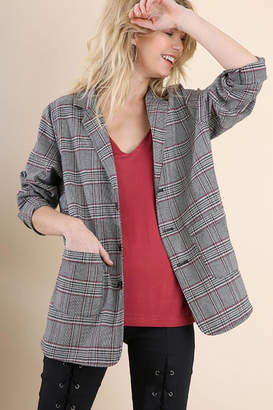 Umgee USA Plaid Blazer Jacket