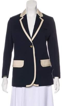 MAISON KITSUNÉ Peak-Lapel Long Sleeve Blazer