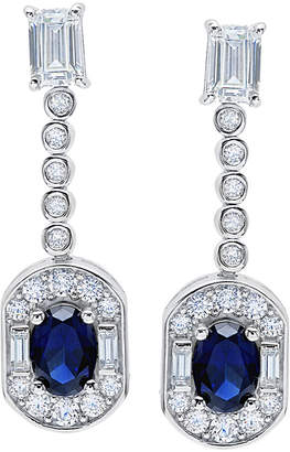 Crislu Juliet Platinum Plated Cz Drop Earrings