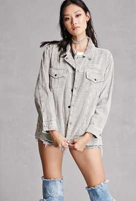 FOREVER 21+ Corduroy Buttoned Jacket $68 thestylecure.com