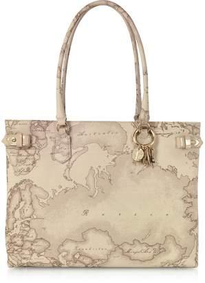 Alviero Martini Safari Encantado Geo Print Shopping Bag