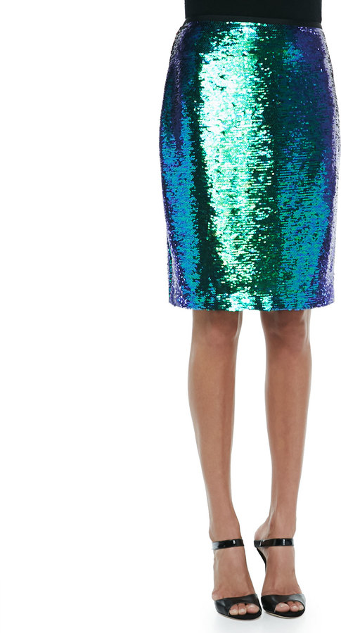 Shoshanna Alycia Sequined Pencil Skirt