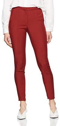 Selected Women's Sfmuse Cropped Mw Pant-Syrah Trouser