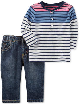 Carter's 2-Pc. Cotton Top & Jeans Set, Baby Boys