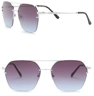 Vince Camuto Semi Rimless Aviator Sunglasses