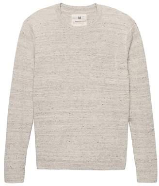 Banana Republic Heritage Italian Stretch-Linen Crew-Neck Sweater