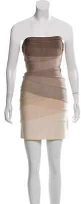 Herve Leger Adeline Bandage Dress Tan Adeline Bandage Dress