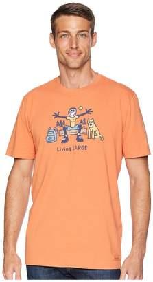 Life is Good Living Large Camp Crusher Tee Men's T Shirt