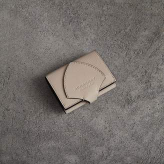 Burberry Equestrian Shield Two-tone Leather Folding Wallet