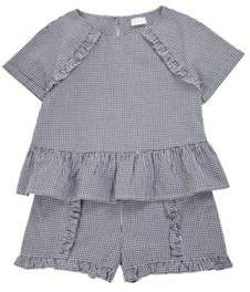 F&F Woven Gingham Top And Shorts Set 7-8 years