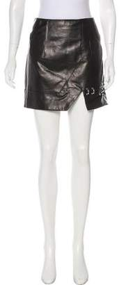 Hotel Particulier Mini Leather Skirt