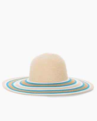Blue and Neutral Striped Sun Hat