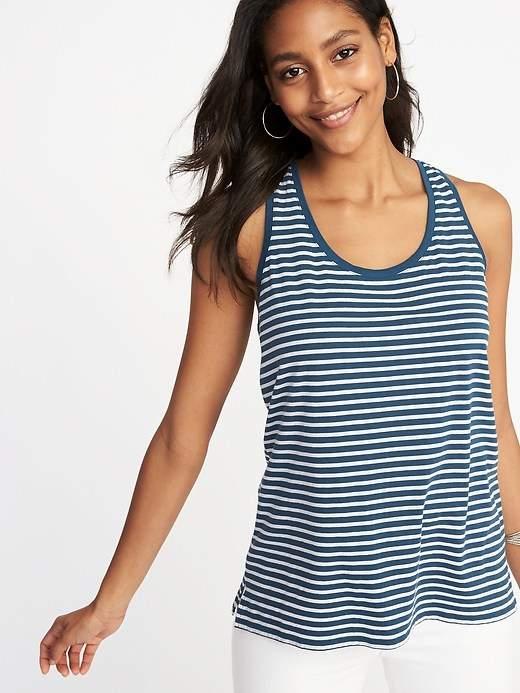 EveryWear Striped Scoop-Neck Tank for Women