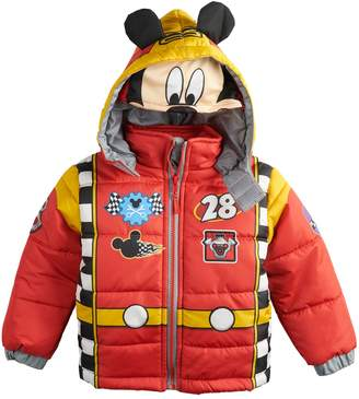 Disney Disney's Mickey Mouse Toddler Boy Quilted Costume Hooded Heavyweight Jacket