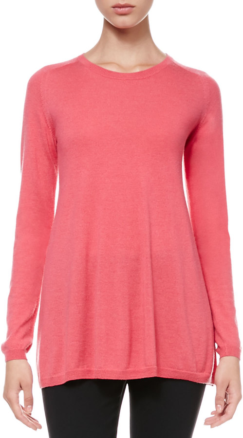RED Valentino Long-Sleeve Knit Swing Top