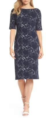 Maggy London Jacquard Pencil Dress (Regular & Petite)