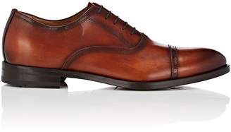 Antonio Maurizi MEN'S CAP-TOE BURNISHED LEATHER BALMORALS