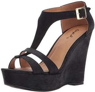 Qupid Women's Kelsey-52 Wedge Sandal