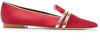 Malone Souliers Hermione Point Toe Satin Flats - Womens - Red Multi