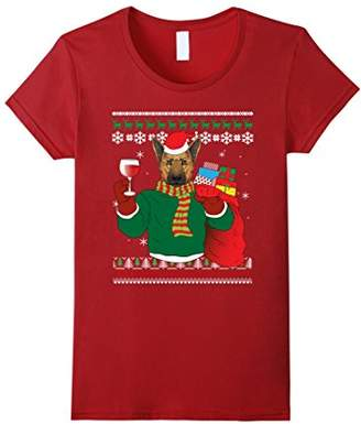 German Shepherd Dog Ugly Christmas T-shirt - Apparel Style