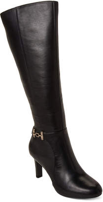 Bandolino Black Lamari Leather Tall Boots
