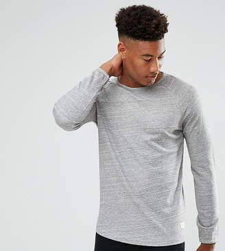 Selected Long Sleeve T-Shirt With Raglan Sleeve And Curved Hem