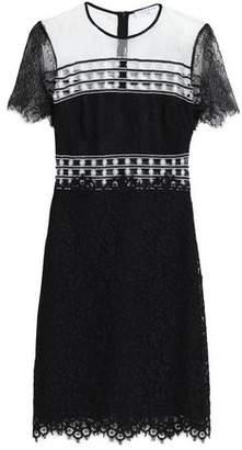 Sandro Two-Tone Lace Mini Dress