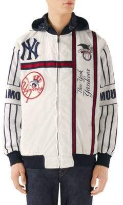 Gucci New York Yankees Striped Bomber Jacket