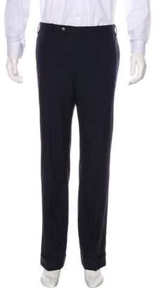 Kiton Wool Cuffed Dress Pants