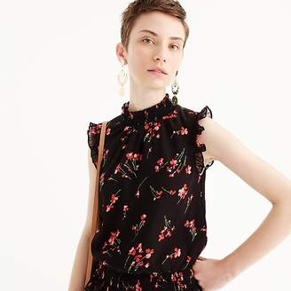 J.Crew Tall sleeveless smocked top in falling floral