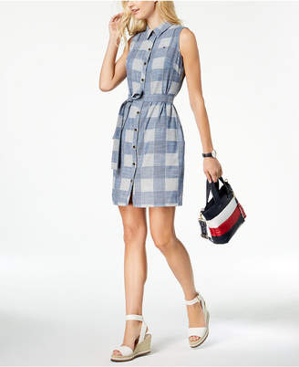 Tommy Hilfiger Cotton Sleeveless Shirtdress